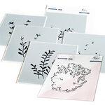 Pinkfresh Studio - Layering Stencils and Die Set - Enchanting Meadows Bundle