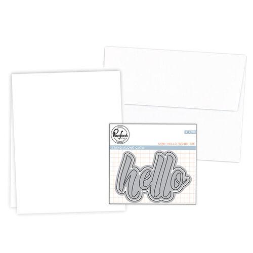 Pinkfresh Studio - Hello Dies - A2 Vertical Card Making Bundle