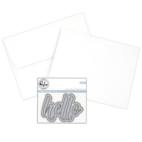 Pinkfresh Studio - Hello Dies - A2 Card Making Bundle