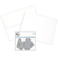 Pinkfresh Studio - Hello Dies - A2 Card Making Bundle