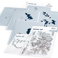 Pinkfresh Studio - Clear Photopolymer Stamps, Layering Stencils and Die Set - Infinite Blooms Complete Bundle
