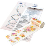 Pinkfresh Studio - Clear Photopolymer Stamps, Washi Tape and Die Set - Joyful Bouquet Complete Bundle