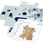 Pinkfresh Studio - Hot Foil Plate, Layering Stencils and Die Set - Joyful Peonies Bundle