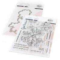 Pinkfresh Studio - Clear Photopolymer Stamps and Die Set - Just Because Bundle