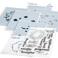 Pinkfresh Studio - Clear Photopolymer Stamps, Layering Stencils and Die Set - Known and Loved Complete Bundle
