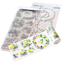 Pinkfresh Studio - Clear Photopolymer Stamps, Washi Tape and Die Set - Lemons and Blueberries Complete Bundle