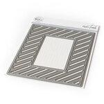 Pinkfresh Studio - Essentials Collection - Dies - Fancy Diagonal Stripes With Window