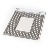 Pinkfresh Studio - Essentials Collection - Dies - Fancy Diagonal Stripes With Window