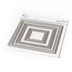 Pinkfresh Studio - Essentials Collection - Dies - Diagonal Stitched Squares