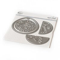 Pinkfresh Studio - Essentials Collection - Dies - Teardrop Tag With Fillable Elements