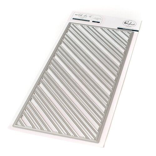 Pinkfresh Studio - Essentials Collection - Dies - Slimline - Fancy Diagonal Stripes