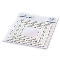 Pinkfresh Studio - Essentials Collection - Dies - Stitched Scalloped Square