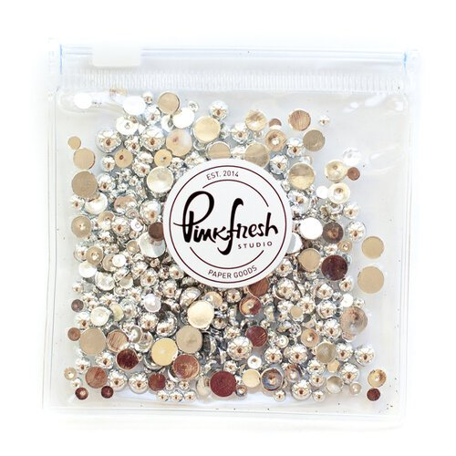 Pinkfresh Studio - Metallic Pearls - Silver