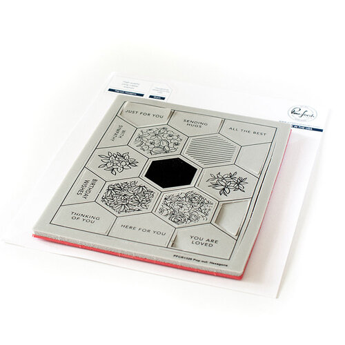 Pinkfresh Studio - Cling Mounted Rubber Stamps - Pop Out Hexagons