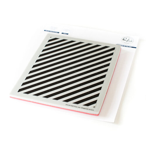 Pinkfresh Studio - Cling Mounted Rubber Stamps - Pop Out Diagonal Stripes