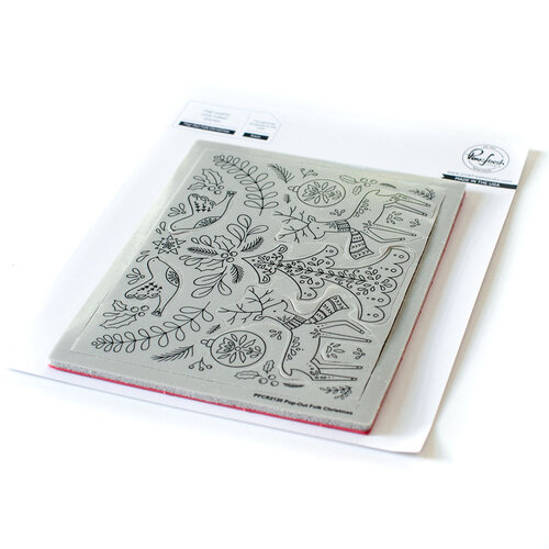 Pinkfresh Studio - Cling Mounted Rubber Stamps - Pop Out Folk Christmas