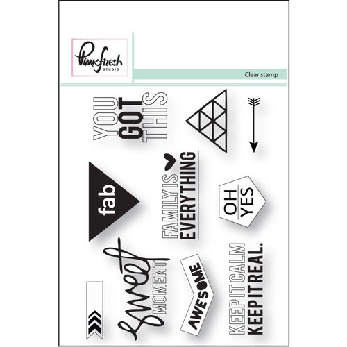 Pinkfresh Studio - Clear Acrylic Stamps - Sweet Moment