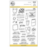 Pinkfresh Studio - Clear Acrylic Stamps - Work Date