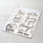 Pinkfresh Studio - Clear Photopolymer Stamps - Scripted Bold Sentiments 1