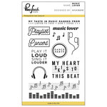 Pinkfresh Studio - Clear Acrylic Stamps - Music Lover