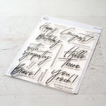 Pinkfresh Studio - Clear Photopolymer Stamps - Scripted Bold Sentiments 2