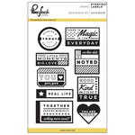 Pinkfresh Studio - Clear Acrylic Stamps - Everyday Labels