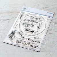 Pinkfresh Studio - Clear Photopolymer Stamps - Oval Foliage
