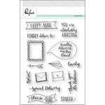 Pinkfresh Studio - Clear Acrylic Stamps - Happy Mail