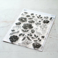 Pinkfresh Studio - Clear Photopolymer Stamps - Embroidered Blossoms