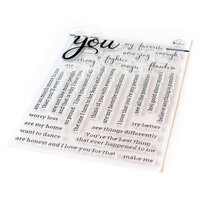 Pinkfresh Studio - Clear Photopolymer Stamps - Simply Sentiments - You