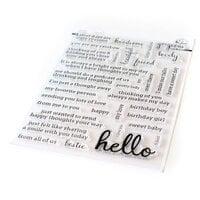 Pinkfresh Studio - Clear Photopolymer Stamps - Simply Sentiments - Hello