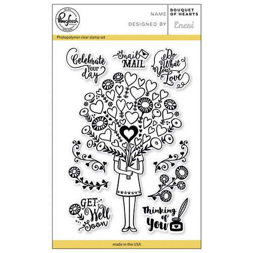 Pinkfresh Studio - Clear Photopolymer Stamps - Bouquet of Hearts
