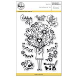 Pinkfresh Studio - Clear Acrylic Stamps - Bouquet of Hearts