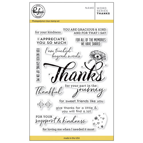 Pinkfresh Studio - Clear Photopolymer Stamps - Word Series - Thanks