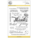 Pinkfresh Studio - Clear Acrylic Stamps - Word Series - Thanks