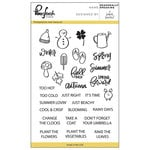 Pinkfresh Studio - Clear Acrylic Stamps - Seasonally Speaking