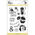 Pinkfresh Studio - Clear Acrylic Stamps - Happy Days