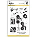 Pinkfresh Studio - Clear Acrylic Stamps - Hello Hello