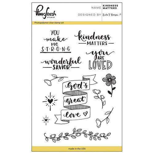 Pinkfresh Studio - Clear Photopolymer Stamps - Kindness Matters