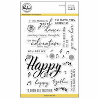 Pinkfresh Studio - Clear Photopolymer Stamps - Word Series - Happy