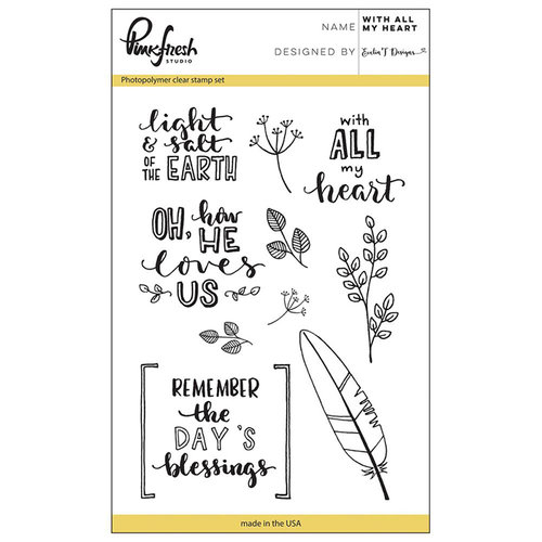 Pinkfresh Studio - Clear Photopolymer Stamps - With all my Heart