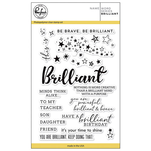Pinkfresh Studio - Clear Photopolymer Stamps - Word Series - Brilliant