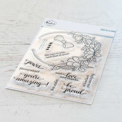 Pinkfresh Studio - Clear Photopolymer Stamps - Hanging Florals