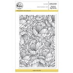 Pinkfresh Studio - Clear Acrylic Stamps - Lined Floral Background