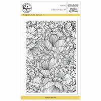 Pinkfresh Studio - Clear Photopolymer Stamps - Lined Floral Background