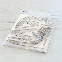 Pinkfresh Studio - Clear Photopolymer Stamps - Folk Hummingbird