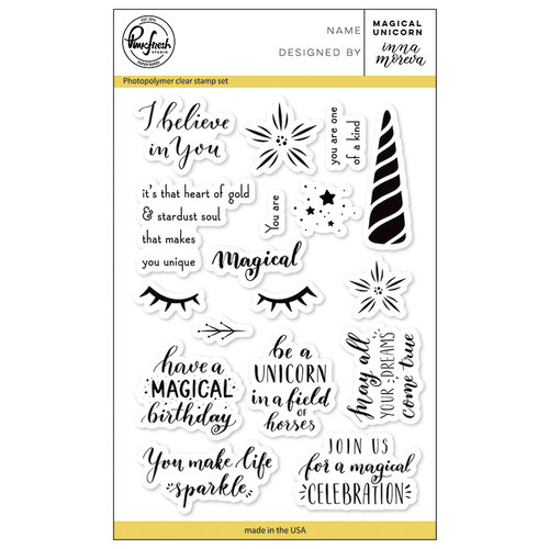 Pinkfresh Studio - Clear Photopolymer Stamps - Magical Unicorn