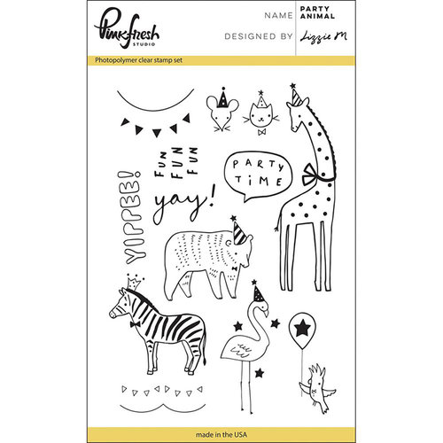 Pinkfresh Studio - Clear Photopolymer Stamps - Party Animal