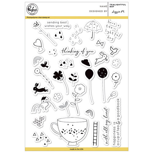 Pinkfresh Studio - Clear Photopolymer Stamps - Tealightful Day