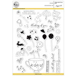 Pinkfresh Studio - Clear Acrylic Stamps - Tealightful Day